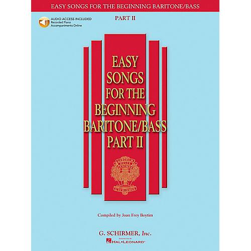 G. Schirmer Easy Songs for The Beginning Baritone / Bass Part II Book/CD