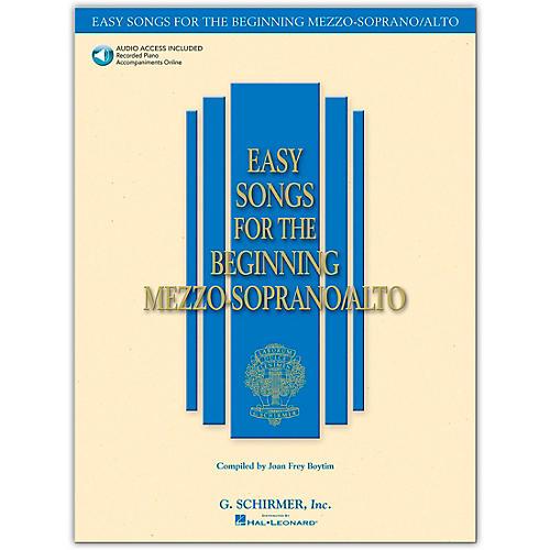 G. Schirmer Easy Songs for The Beginning Mezzo-Soprano / Alto Book/Online Audio