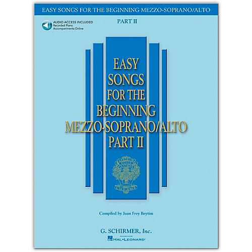 G. Schirmer Easy Songs for The Beginning Mezzo-Soprano / Alto Part II Book/CD