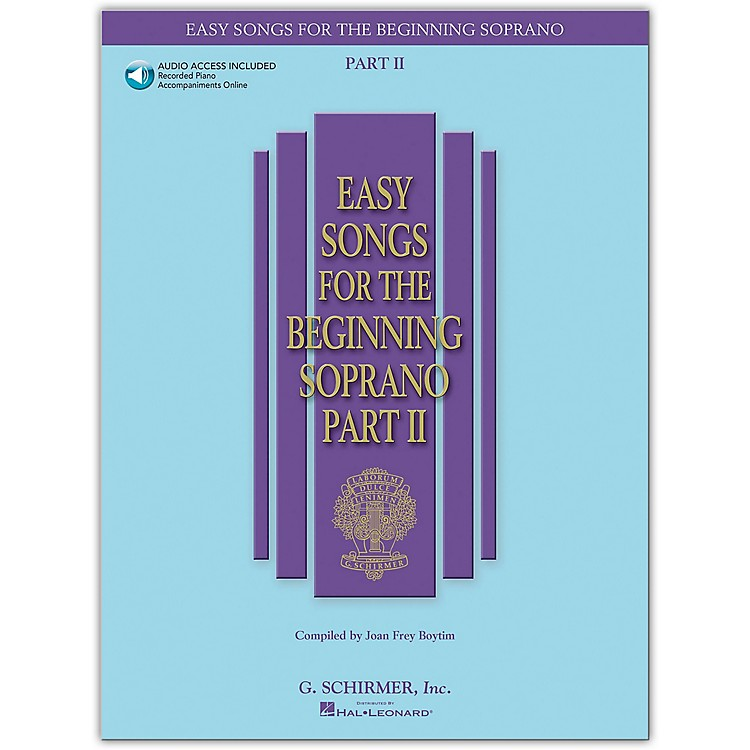 G. Schirmer Easy Songs for The Beginning Soprano Part II Book/CD