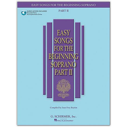 G. Schirmer Easy Songs for The Beginning Soprano Part II Book/Online Audio