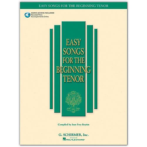 G. Schirmer Easy Songs for The Beginning for Tenor Voice Book/CD