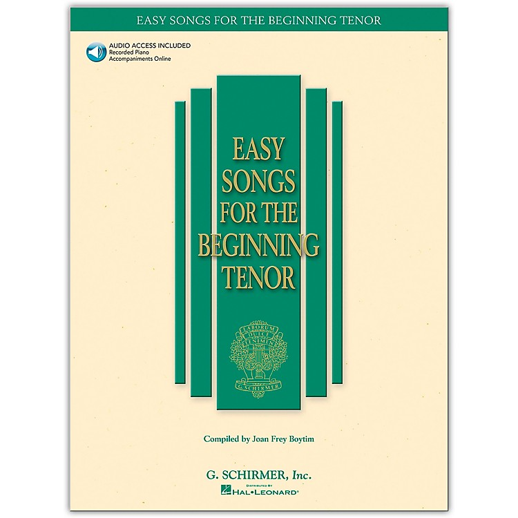 G. SchirmerEasy Songs for The Beginning for Tenor Voice Book/CD
