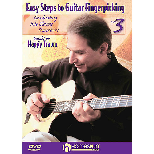 Homespun Easy Steps to Guitar Fingerpicking Instructional/Guitar/DVD Series DVD Written by Happy Traum-thumbnail