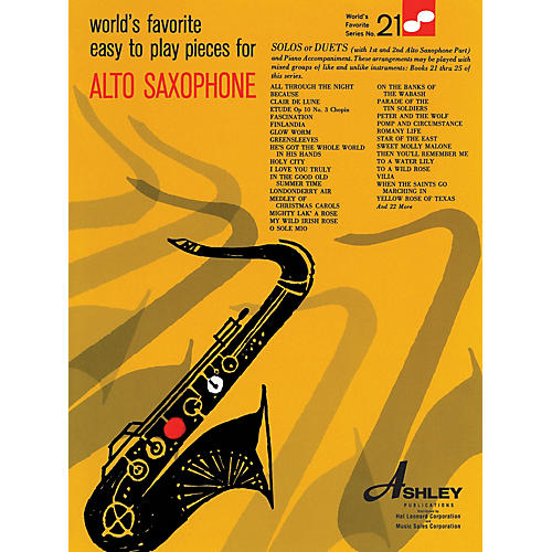 Ashley Publications Inc. Easy To Play Pieces For Alto Saxophone 21 Worlds Favorite World's Favorite (Ashley) Series-thumbnail