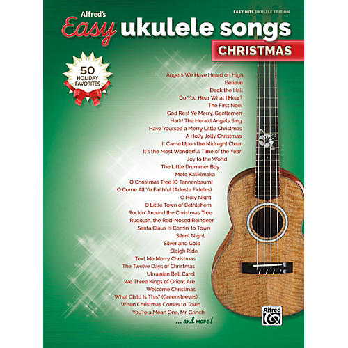 Alfred Easy Ukulele Songs: Christmas Easy Hits Ukulele Songbook-thumbnail