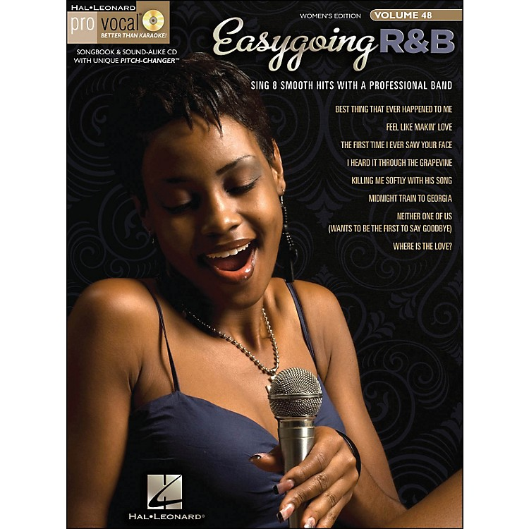 Hal Leonard Easygoing R&B Pro Vocal Songbook & CD for Female Singers Volume 48
