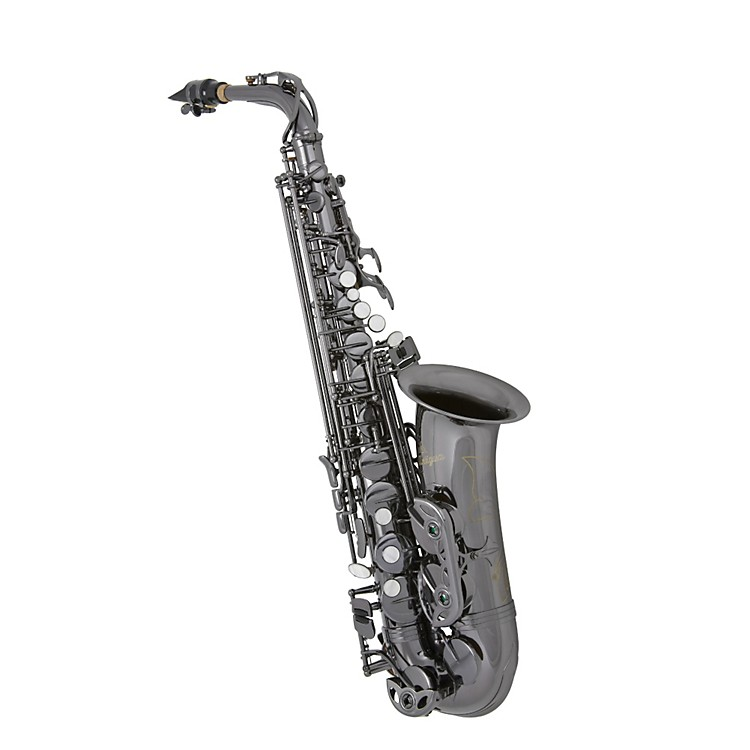 Antigua Winds Eb Alto Saxophone Black nickel plated body Black nickel plated keys