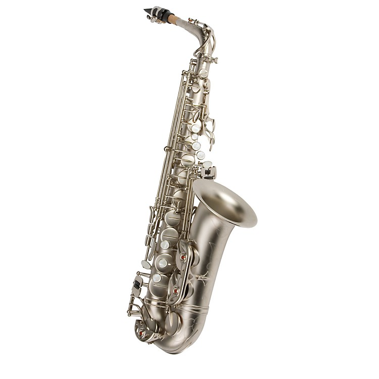 Antigua Winds Eb Alto Saxophone Black nickel plated body Gold plated keys