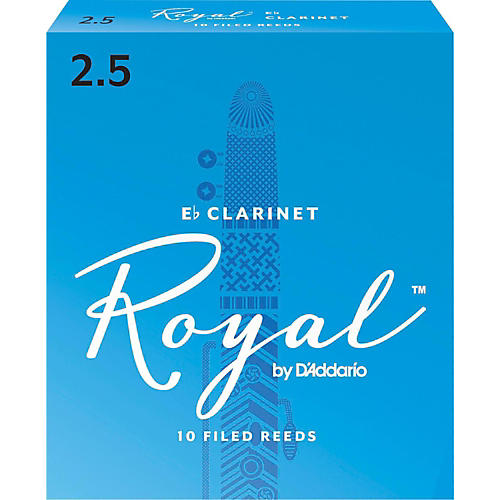 Rico Royal Eb Clarinet Reeds, Box of 10 Strength 2.5