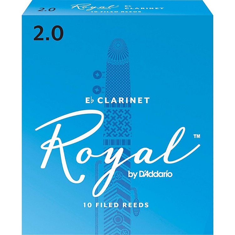 Rico Royal Eb Clarinet Reeds Strength 2 Box of 10