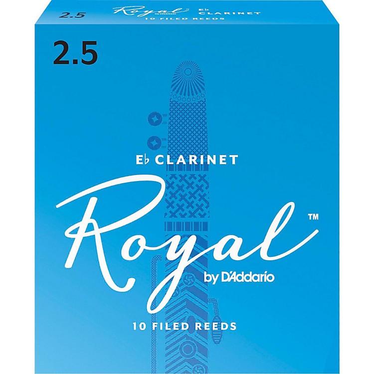 Rico RoyalEb Clarinet ReedsStrength 2.5Box of 10