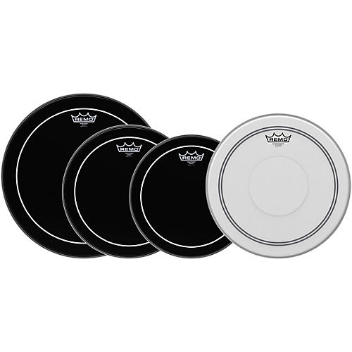 Remo Ebony Pinstripe Standard Pro Pack with Free 14 in. Coated Pinstripe Snare Drum Head-thumbnail