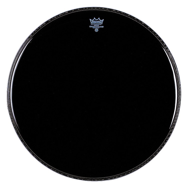Remo Ebony Powerstroke 3 Resonant Bass Drum Head  26 Inches
