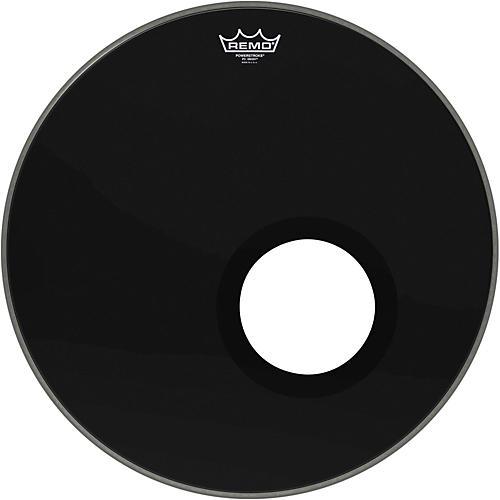 Remo Ebony Powerstroke 3 Resonant Bass Drum Head with 5 Inch Port Hole Ebony 20 in.