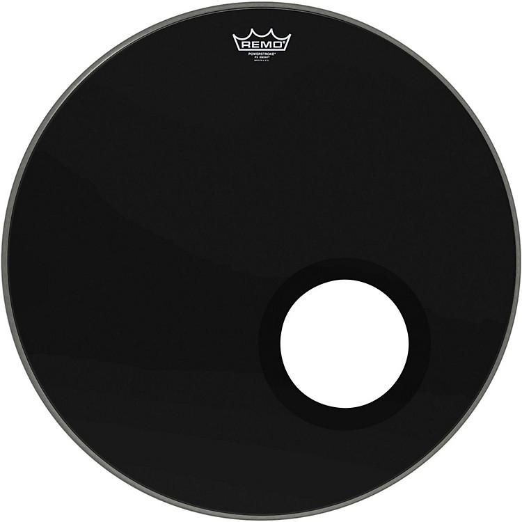 "RemoEbony Powerstroke 3 Resonant Bass Drum Head with 5"" Port HoleEbony22 Inch"