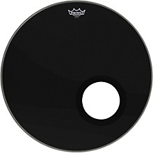 Remo Ebony Powerstroke 3 Resonant Bass Drum Head with 5 Port Hole