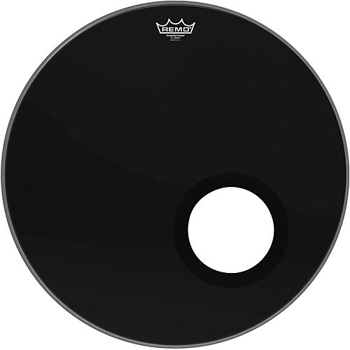 remo ebony powerstroke 3 resonant bass drumhead with 5 inch port hole ebony 22 in musician 39 s. Black Bedroom Furniture Sets. Home Design Ideas