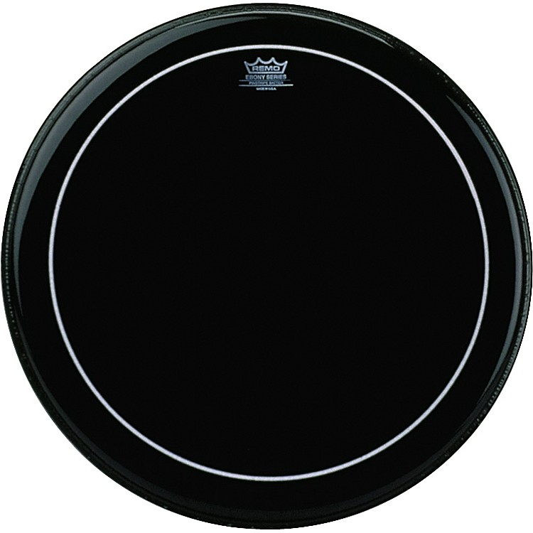RemoEbony Series Pinstripe Bass Drumhead24 Inches