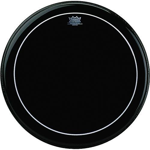 Remo Ebony Series Pinstripe Bass Drumhead  24 in.
