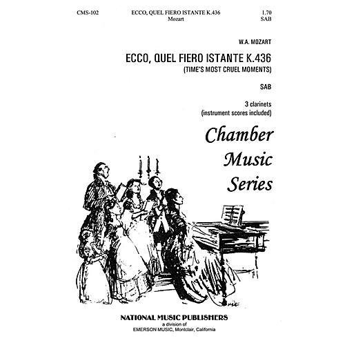 Hal Leonard Ecco Quel Fiero Instante SAB composed by Robert Carl-thumbnail
