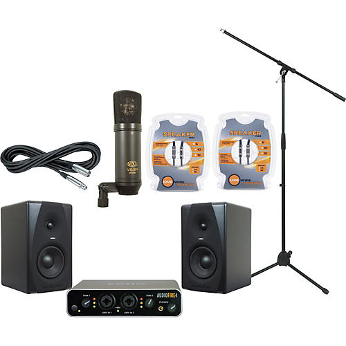 M-Audio Echo AudioFire 4 and M-Audio CX5 Recording Package-thumbnail