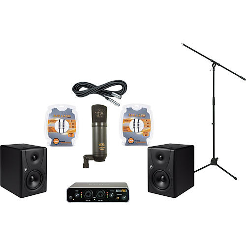 Mackie Echo AudioFire 4 and Mackie MR5 Recording Package