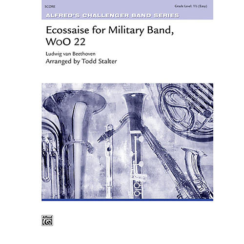 Alfred Ecossaise for Military Band, WoO 22 Concert Band Grade 1.5-thumbnail