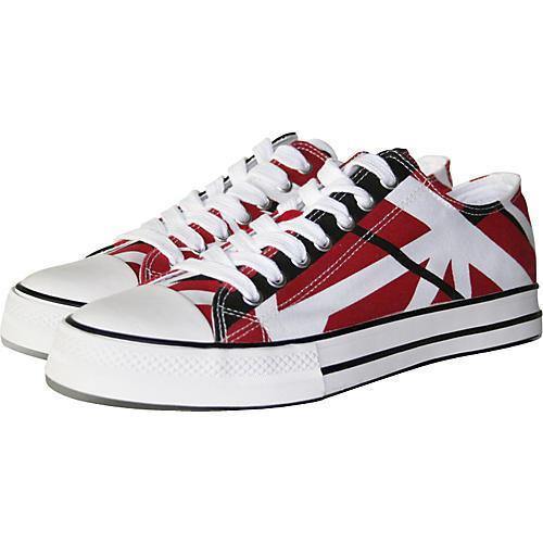 EVH Eddie Van Halen Low Top Sneakers - Red, Black, and White Striped-thumbnail
