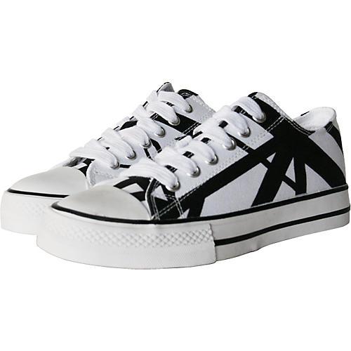 EVH Eddie Van Halen Low Top Sneakers - White with Black Stripes
