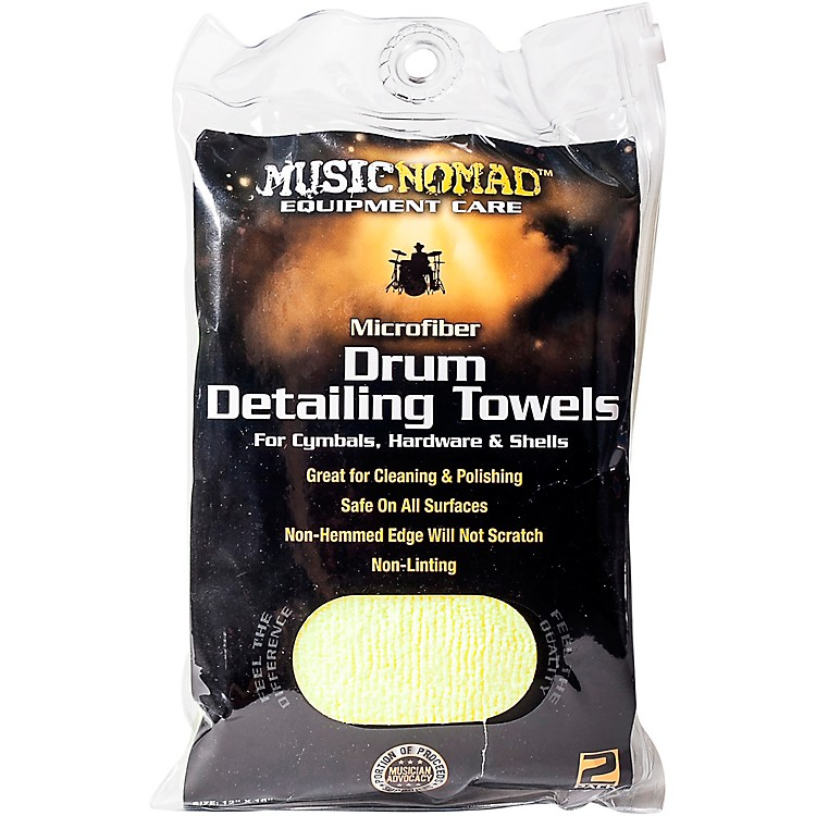 Music Nomad Edgeless Microfiber Drum Detailing Towels - 2 pack