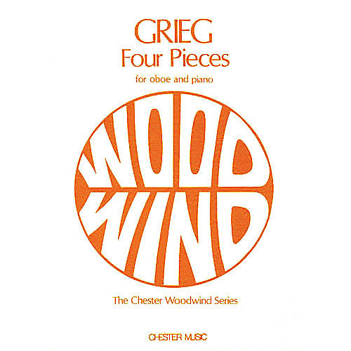 Music Sales Edvard Grieg: Four Pieces for Oboe and Piano Music Sales America Series-thumbnail