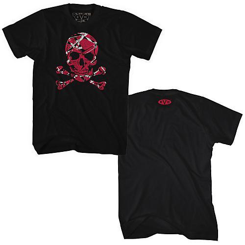 Fea Merchandising Edward Van Halen - Stripe Skull T Shirt-thumbnail
