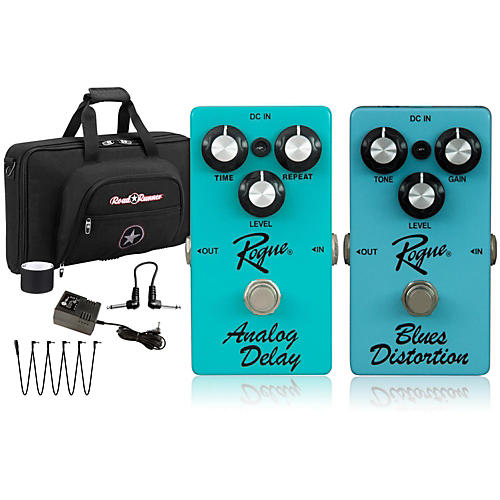 Rogue Effects Pedal Pack DELAY and BLUES DISTORTION