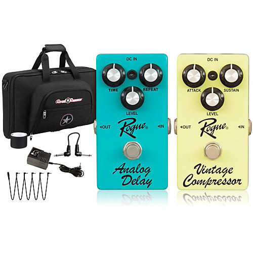 Rogue Effects Pedal Pack DELAY and COMPRESSOR
