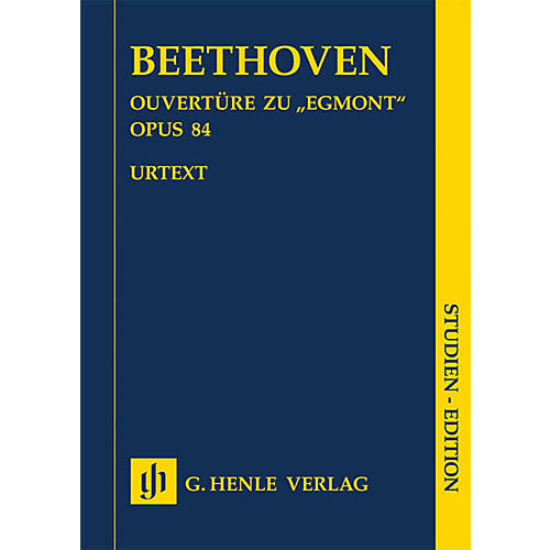G. Henle Verlag Egmont Overture Op. 84 Henle Study Scores Series Softcover Composed by Ludwig van Beethoven-thumbnail