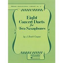 Rubank Publications Eight Concert Duets for Two Saxophones Ensemble Collection Series  by J. Beach Cragun
