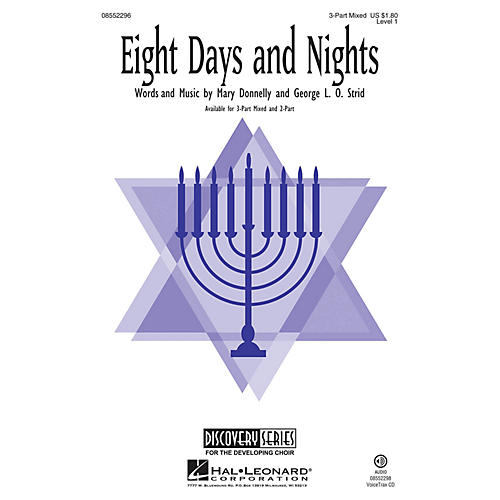 Hal Leonard Eight Days and Nights (Discovery Level 1) 2-Part Composed by Mary Donnelly