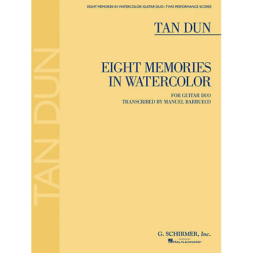 G. Schirmer Eight Memories in Watercolor (for Two Guitars) Guitar Series Softcover