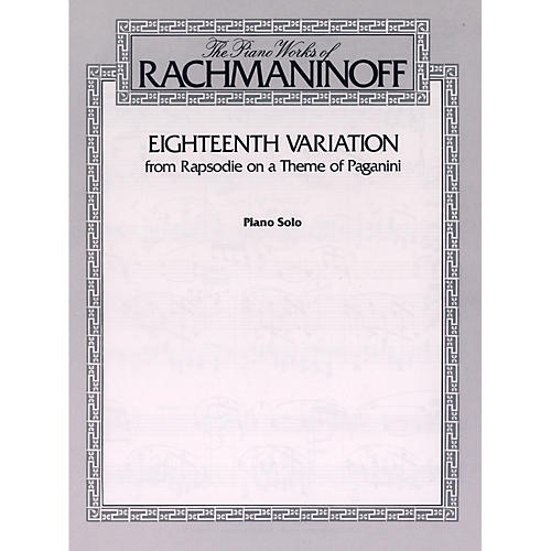 Alfred Eighteenth Variation (from Rhapsodie on a Theme of Paganini) Piano Solo Book-thumbnail