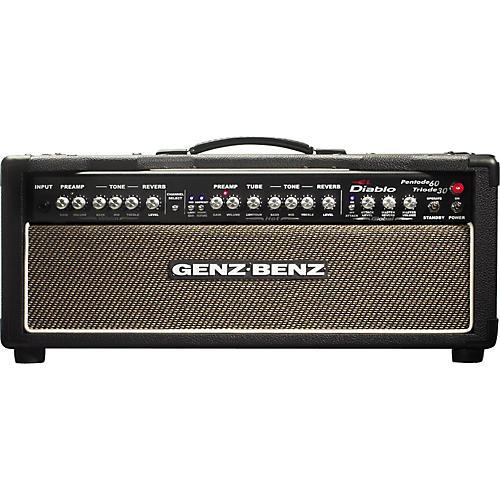 Genz Benz El Diablo 60W Guitar Amp Head with Tribal Grill-thumbnail