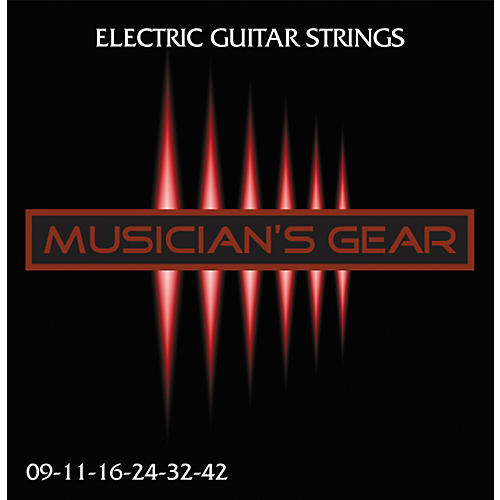 Musician's Gear Electric 9 Nickel Plated Steel Guitar Strings-thumbnail