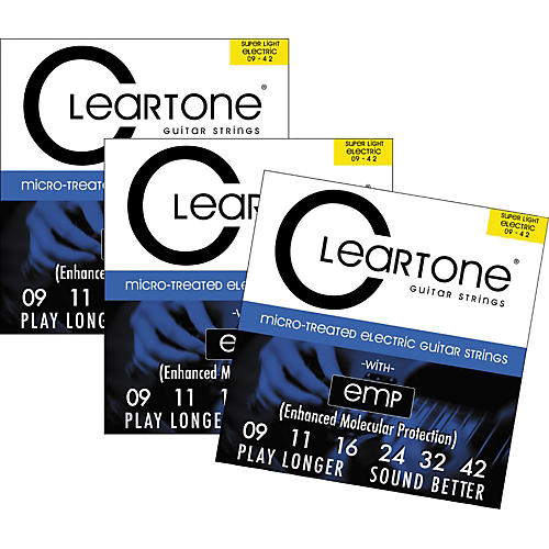 Cleartone Electric Extra Light Electric Guitar String - Buy Two Get One Free