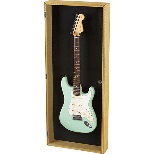 Musician's Gear Electric Guitar Display Case Tweed