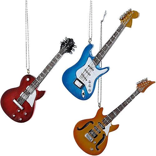 Kurt S. Adler Electric Guitar Ornament 3/Assorted