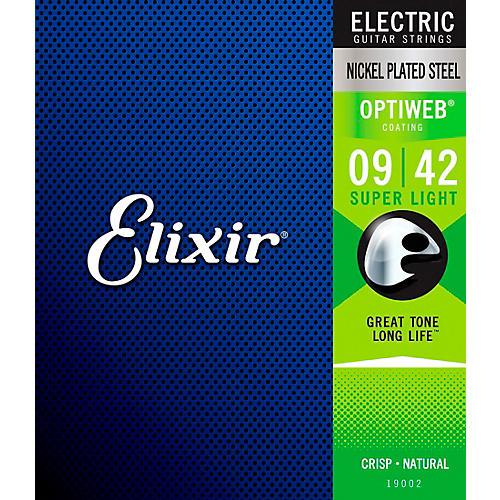 Elixir Electric Guitar Strings with OPTIWEB Coating, Super Light (.009-.042)-thumbnail
