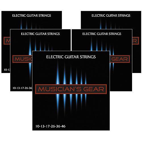 Musician's Gear Electric Nickel Plated Steel Guitar Strings 10-46 - 5-Pack