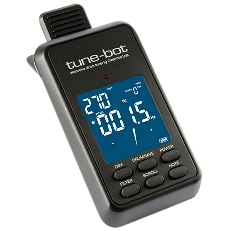 Tune-bot Electronic Drum Tuner Black