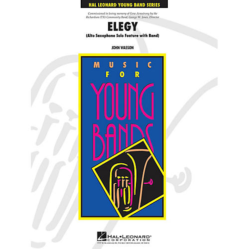 Hal Leonard Elegy - Young Concert Band Level 3 composed by John Wasson-thumbnail