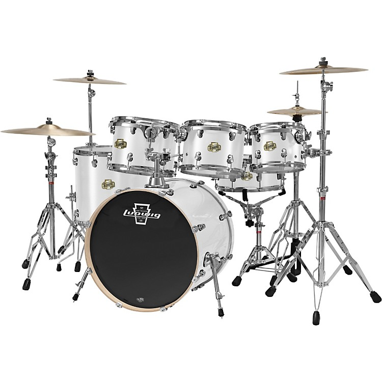 Ludwig Element 5-Piece Power Shell Pack With Free 10x8 Tom White